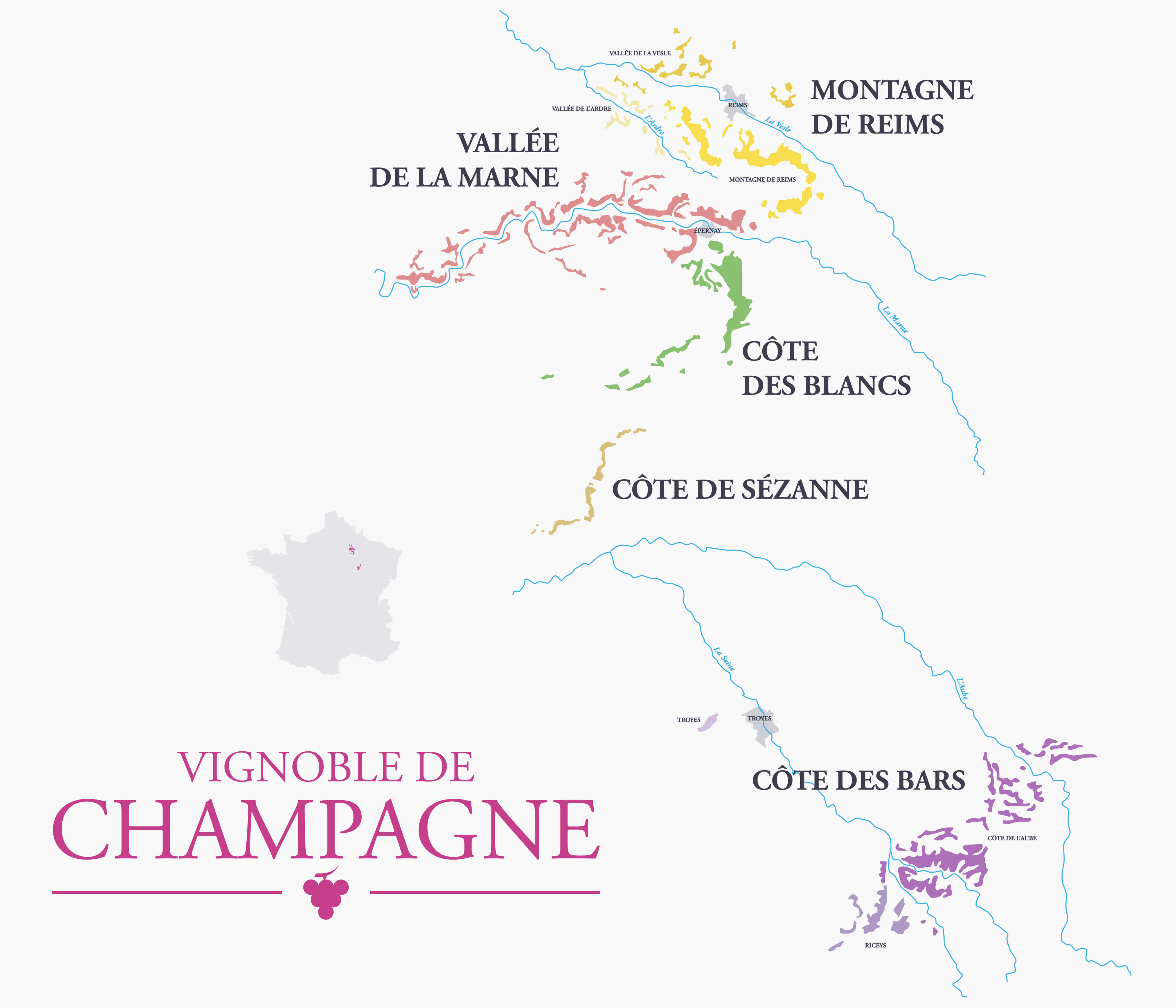 Champagne Guide - Map
