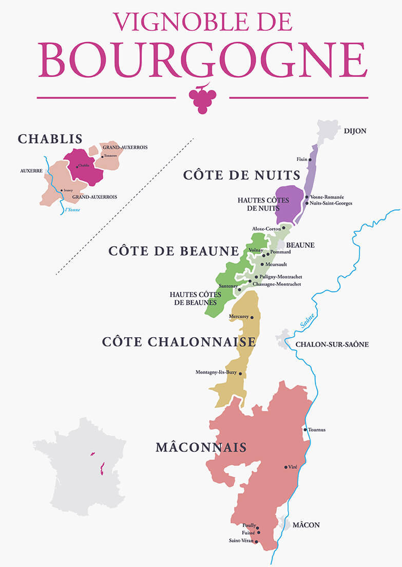 A Guide to Red Burgundy - Map