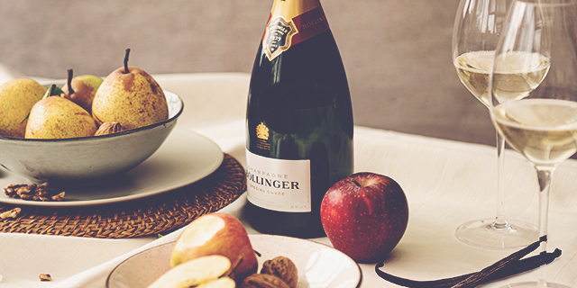 Bollinger Special Cuvee with fruit 843x474