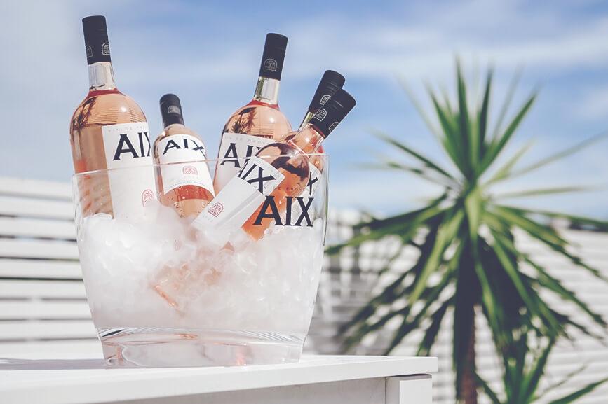 AIX Rose, ice bucket in the sun