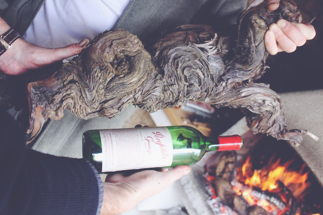 David Desert Island Wines - Penfolds fire