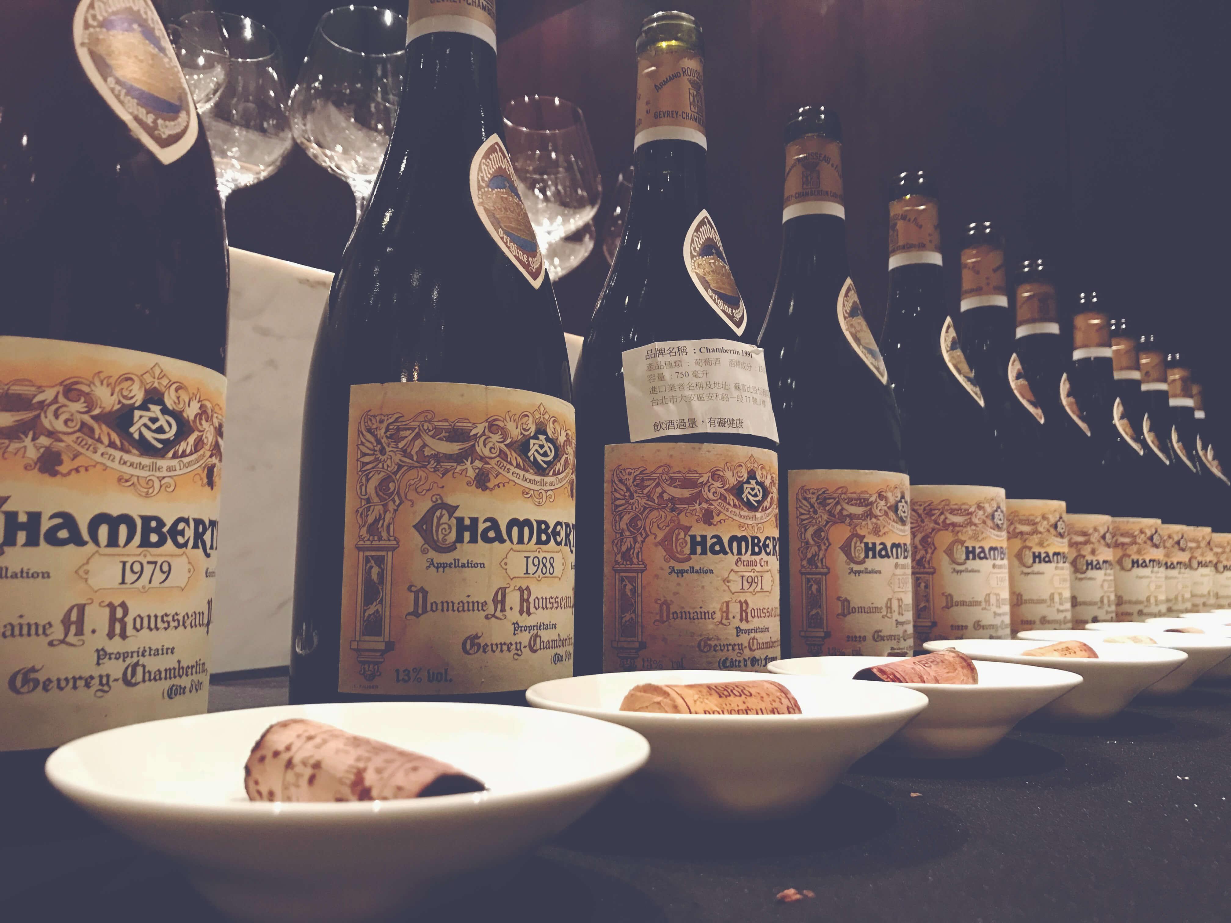 Rousseau Vertical Tasting, Guy Desert Island Wines