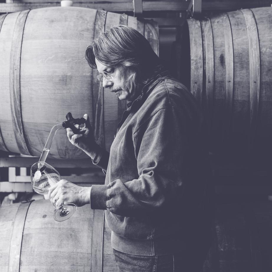 Bob Cabral Wines - in the cellar