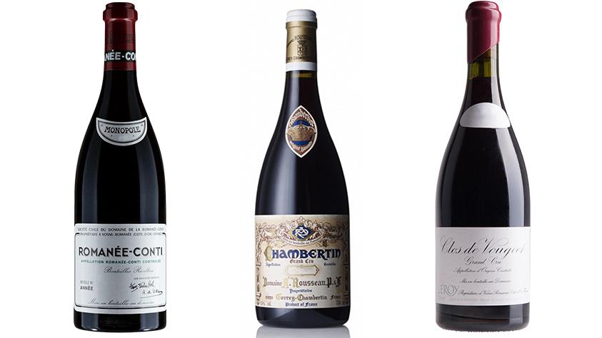 Burgundy Wines x3